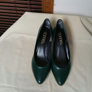 Connie Forest Green pumps. Size 7m